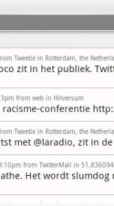 Tijdlijn in Twitli.