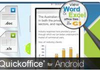 QuickOffice voor Android in VS en UK beschikbaar