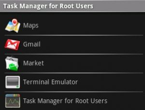 Task Manager for Root Users