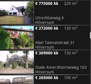 Huizen zoeken op Android