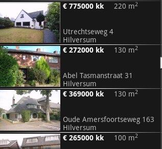 Eerste GPS-huizenzoeker voor Android: 'Huizen in de buurt'