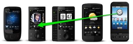 Nieuwe video van Android op een HTC Touch Diamond
