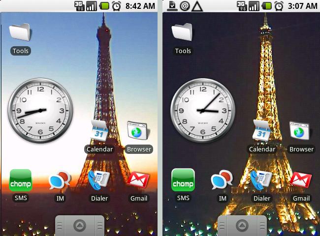 Eiffeltoren als steeds veranderende wallpaper voor Android