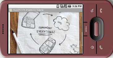 Evernote optimaliseert website voor Android-browser
