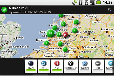 Preview: NUkaart voor Android zet nieuws op de kaart