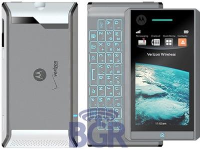 Motorola's eerste toestel met Android uitgelekt: Motorola Calgary