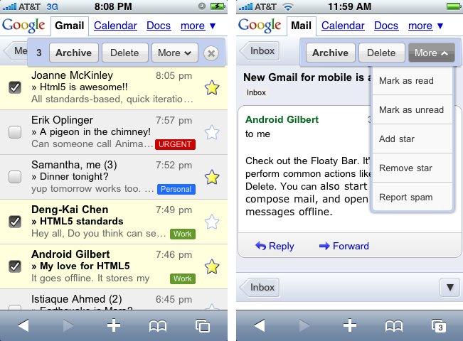 Gmail voor Android en iPhone vernieuwd