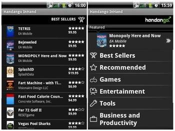 Alternatief voor de Android Market: Handango InHand [VS]