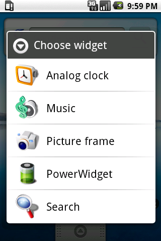 Eén van de eerste widgets voor Android 1.5: Power Widget