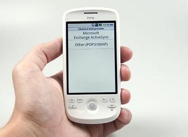 HTC Magic ondersteunt Exchange, Google zegt van niet