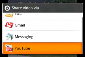 youtube upload op android
