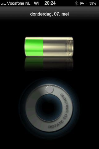 Unlock scherm