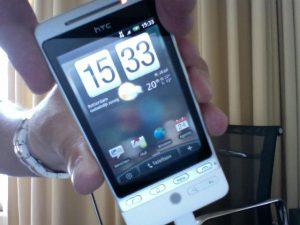 Uitpakfoto's HTC Hero.