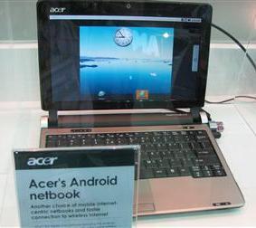 Gerucht: in augustus al een Android-netbook van Acer