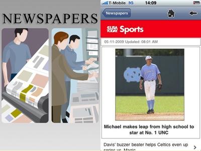 Krant lezen op je Android-toestel: nieuwe applicatie Newspapers