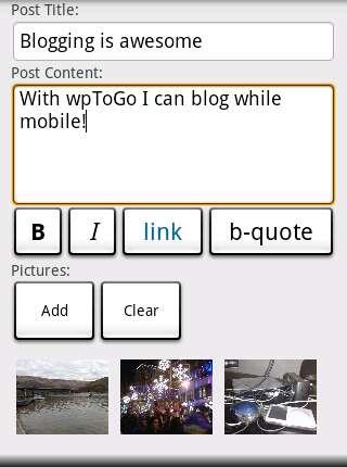 Onderweg je blog bijwerken met wpToGo