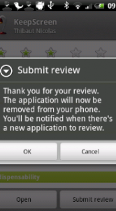 Insturen van je review.