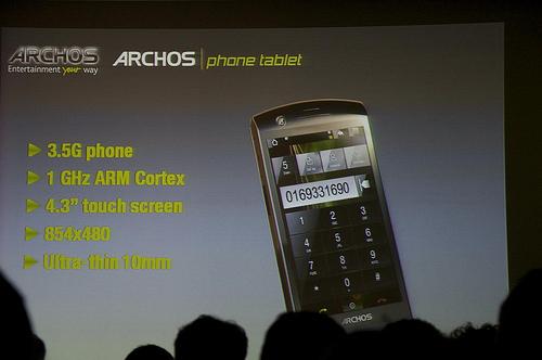 Archos werkt aan nieuw project: Archos Phone Tablet
