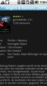 Informatie over een film bekijken.