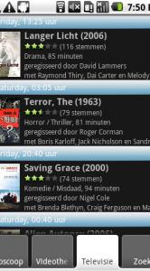 Lijst met films die je de komende dagen op tv kunt bekijken.