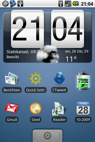 Weather Widget (Donate): weerbericht-widget in HTC Sense-stijl