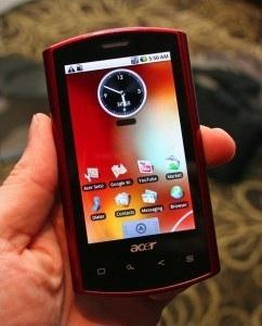 Acer Liquid: in het rood, met eigen Acer-interface