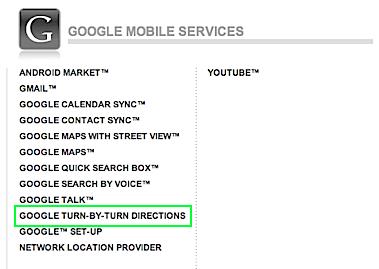 google turn by turn