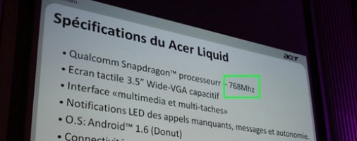 acer liquid snapdragon