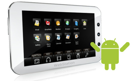 Camangi WebStation: 7 inch Android-tablet voor 250 euro