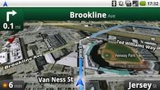 Google-navigatie werkend op een T-Mobile G1