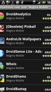 Andere applicatis van Magma Mobile.