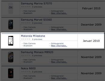 Motorola Milestone krijgt eerste Europese updates naar 2.0.1