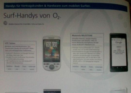 Nederlandse Motorola Milestone heeft Android 2.1