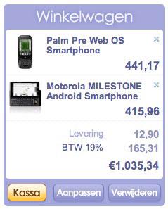 Motorola Milestone: vanaf december of januari?