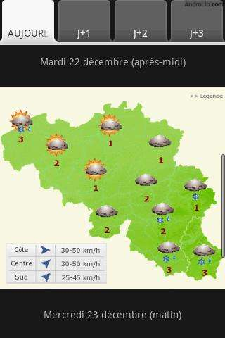 Eindelijk: Het weer in België voor Android