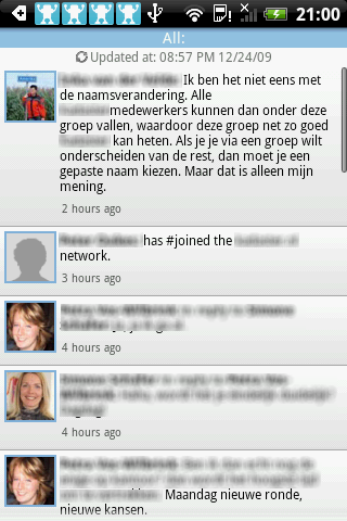 Review: Yammer, corporate microblogging ook voor Android