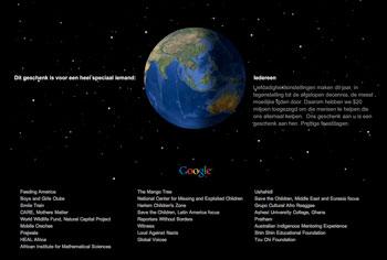 Google geeft kerstcadeau van 20 miljoen dollar
