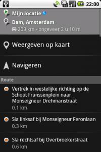 Google Maps met navigeren
