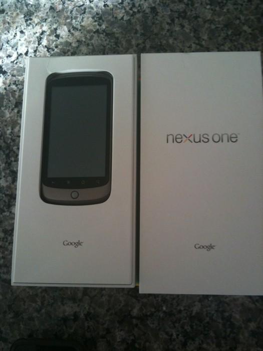 Google Nexus One uitpakfoto's en video