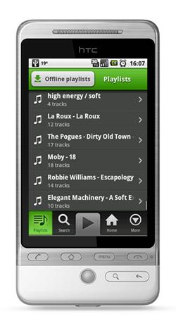 Spotify krijgt update voor Android 2.0