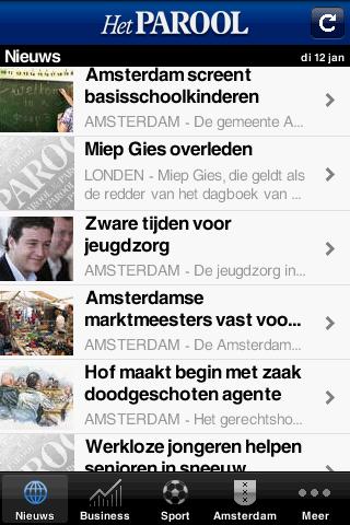 Parool Android-app: lees Het Parool gratis op je Android-telefoon