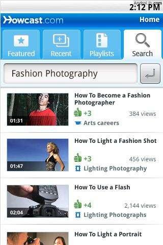 Howcast: instructie-video's op je Android-telefoon bekijken