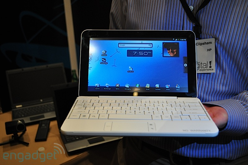 HP toont Android netbook-prototype op CES