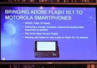 Live van de CES: Motorola belooft Flash en Android 2.1, kondigt Motorola Backflip aan