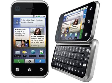 Motorola Backflip binnenkort leverbaar in Duitsland