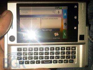 Motorola Calgary: opvolger van Milestone in zilver gespot