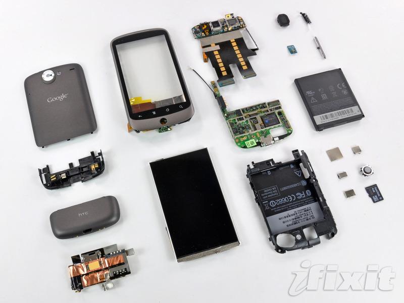 Google Nexus One binnenstebuiten gekeerd