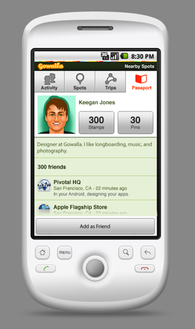 android gowalla