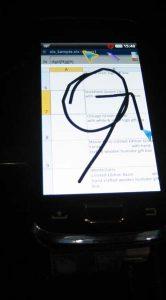 Handig: tijdens het projecteren kun je op het scherm tekenen.