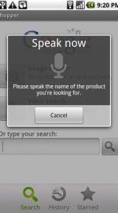 Google Shopper voice search